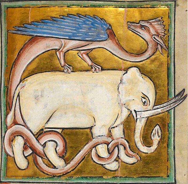 Кого в Средневековье рисовали таким носатым чудищем