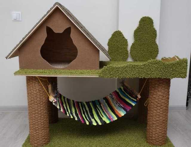 Домик-палатка для кошки своими руками: инструкция, фото
